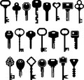 Set of ized keys Stock Photo