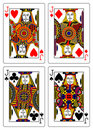 Set of jacks playing cards 62x90 mm Royalty Free Stock Image
