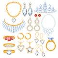 Set of jewelry items