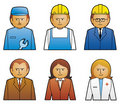 Set job icons 1 Stock Photos