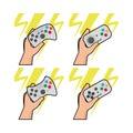 Set of joysticks