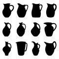Set of jugs illustration collection Stock Image