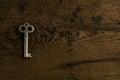 Set of keys on wood background Royalty Free Stock Photo
