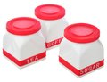 Set of kitchen containers for sugar, coffee and tea Royalty Free Stock Photo