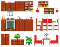 Set of kitchen furniture Stock Images
