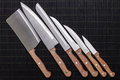 Set of kitchen knifes Royalty Free Stock Photography