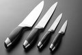 Set of kitchen knives Stock Photo