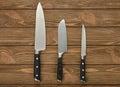 Set of kitchen knives Royalty Free Stock Photo
