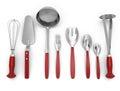 Set of kitchen utensils Royalty Free Stock Photo