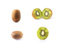 Set kiwi fruit Royalty Free Stock Photography