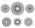 Set of knot design geometric elements symbols decorative Stock Photography