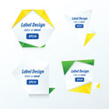 Set Of Label Vector Design yellow, blue, green Royalty Free Stock Photo