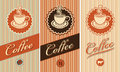 Set of labels for coffee Royalty Free Stock Images