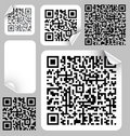 Set of labels with qr codes Royalty Free Stock Images