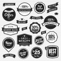 Set of labels and ribbons for sale Royalty Free Stock Images