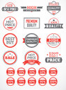 Set labels and stickers for advertising trade Stock Photography