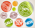 Set of labels and stickers - sale and best price Royalty Free Stock Photography
