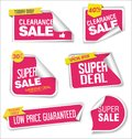 Collection of labels stickers and tags flat design illustration Royalty Free Stock Photo