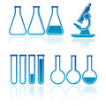 Set of laboratory equipment Stock Images