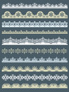 Set of Lace Paper  for christmas, vector Royalty Free Stock Photo