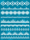 Set of Lace Paper  for christmas, vector Royalty Free Stock Images