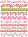 Set of lace paper with flower and leafs vector Stock Photo