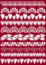 Set of Lace Paper with heart Royalty Free Stock Photo