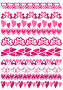 Set of Lace Paper with heart, vector Royalty Free Stock Photo
