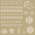 Set of lace ribbons for design and scrapbook in vector Stock Photo