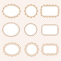 Set of lacy labels Royalty Free Stock Photo