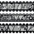 Set of lacy vintage trims vector illustration Royalty Free Stock Photography