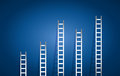 Set of ladders illustration design over a blue background Royalty Free Stock Images