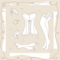 Set of ladies clothes. Royalty Free Stock Photos