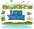 Set of lake element