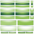 Set large small green buttons website design page Royalty Free Stock Image