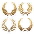 Set of laurel wreaths Stock Images