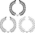 Set of laurel wreaths vector illustration Royalty Free Stock Image