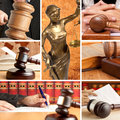 Set of law wooden gavel and Stock Image