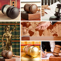Set of law wooden gavel and Royalty Free Stock Photography