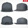 Set Layout of Male black rap cap