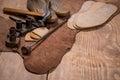 De piel vasos en madera