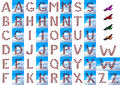 Set of letters - original airplane alphabet Stock Photo