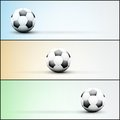 Set of light sports banner for a website to soccer or application football vector illustration Stock Image