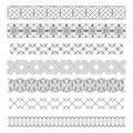 Set of line geometric hipster vintage design elements55 Royalty Free Stock Photo
