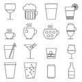 Set of line icons with drinks Royalty Free Stock Photo
