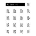Set line icons. Vector. Document, file.