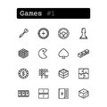 Set line icons. Vector. Leisure, game