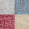 Set of linen fabrics Royalty Free Stock Photo