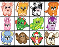 Set of Little Animals. Royalty Free Stock Photo