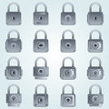 Set of locks icon Royalty Free Stock Images
